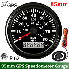 85mm Boat GPS Speedometer 80MPH 130km/h Odometer Gauge For Car Truck Motorcycle