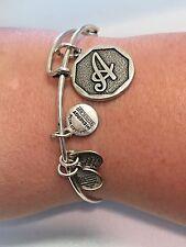 Alex and Ani Initial Letter A Charm Bangle Bracelet
