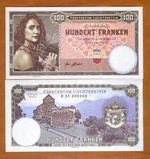 Liechtenstein, 100 Francs, 2018, Private issue, Specimen > Girl with flowers