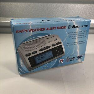 Midland WR-300 Am/Fm Weather Alert Radio Emergency Clock - New in Open Box
