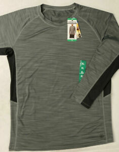 Hang Ten Mens Rashguard Swim UV T-shirt UPF 50+ LONG SLEEVE Zip Sun Tee Surf XL