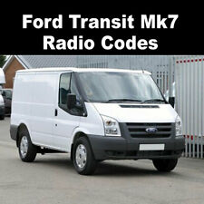Ford Transit Mk7 Radio Code Stereo V & M Code Generator 4000RDS/6006 CDC