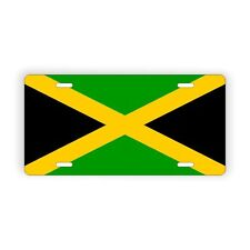 "Jamaica Flag Licence Plate 6"" x 12"" Aluminum Plate"