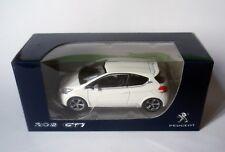PEUGEOT 208 GTI  BLANC BANQUISE NOREV 1/64 APROX 7 CM
