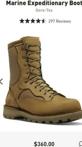 """Danner Marine Expeditionary Boot 8"""" Gore-Tex Men's size 13 R USA NEW SOLID!"""