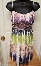 Ruby Rox Woman's Multi Color Design Sleeveless Dress Size M
