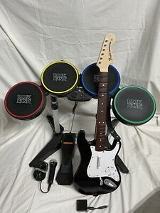 Rock Band Set. PS2 PS3 PS4 PS5. Drums, Guitar And Dongle, Microphone, 2 Games.