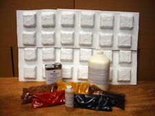 24-MOLD DIY SUPPLY KIT MAKES 1000s OF COBBLESTONE, TILE, PATIO, PAVERS 4 PENNIES