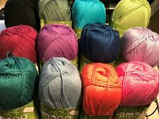 King Cole Bamboo Cotton 4 Ply Knitting / Crochet Yarn 100g *10 SHADES*