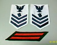 UNITED STATES NAVY USN VINTAGE PETTY OFFICER 1st CLASS SLEEVE RANK & SERVICE BAR