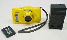 Nikon Coolpix S31 Waterproof Shockproof 10.1 MP Digital Camera - Yellow