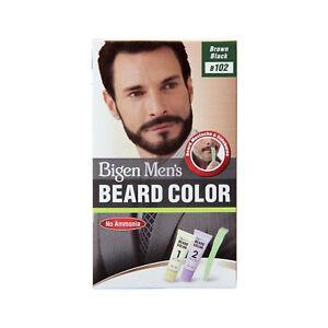 Hoyu Co. Bigen Men's Beard, Mustache & Sideburns Colour, Brown Black B102