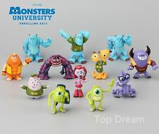 12pcs Monsters Inc. Monsters University Mike Sully PVC Figure Toys Cake Topper