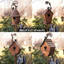 Copper Colored Fancy Design Birdhouse Garden Stakes