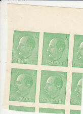 1940 KING TSAR BORIS Bulgaria Sc 368 ERROR Imperforated BLOCK OF FOUR