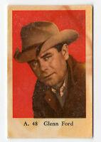 1950s Sueco Estrella Cine CARTA A JUEGO #48 Americano Vaquero actor GLENN FORD