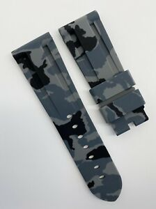 Authentic New Horus Panerai 26mm x 22mm Gray Camo Rubber Watch Strap Band OEM