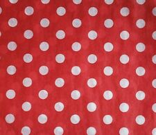 Ivory Dots on Red Tissue Paper #231 / Gift Wrap - 10 Large sheets
