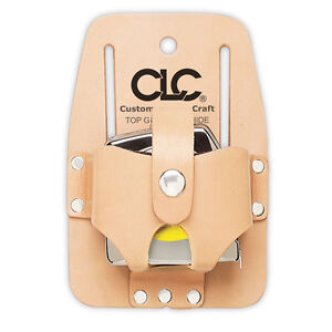 CLC 464 - 16-30' Leather Measuring Tape Measure Belt Holder Pouch Tool Carrier