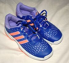 NEW adidas Girl Tennis Barricade Team Size 3.5 PURP/ORG Shoes Sneakers