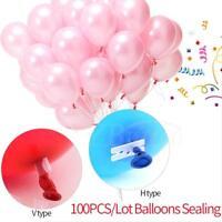New Clip 100pcs Party Xmas Wedding Birthday Tie Decoration Balloon Plum
