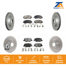 Front Rear Coated Disc Rotors & Ceramic Brake Pad Fit Mitsubishi Outlander Sport