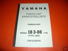 Ersatzteilkatalog _ Teileliste _ PARTSLIST _ LB3-80 _ Yamaha Bop _ Baujahrj 1978