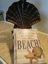NAUTICAL DECOR SEASHELL SERVING DISH & PLAQUE