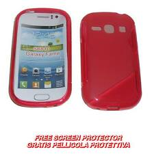 Pellicola + Custodia cover WAVE ROSSA per Samsung Galaxy Fame S6810 (B8)