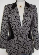 Black Leopard Print Horse Show Hobby Jacket  Sz 12 Apparel Showmanship Lungeline