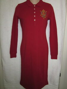 NWT RALPH LAUREN RED DRESS XS