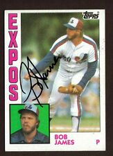 1984 TOPPS #579 BOB JAMES EXPOS AUTO SIGNED CARD JSA STAMP B