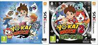 New & Sealed YO-KAI WATCH & YO-KAI WATCH 2 Bony Spirits Nintendo 3DS Games