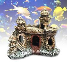 Aquarium Ornament Castle Tower Fish Tank House Shrimp Cave Craft Decoration GH