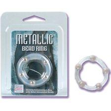 Metallic Bead Cock Ring, 1.25``