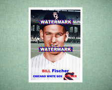 Bill Fischer Chicago White Sox 1957 Style Custom Art Card