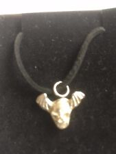 """Skull Bat TG329A Made In Fine English Pewter On 18"""" Black Cord Necklace"""