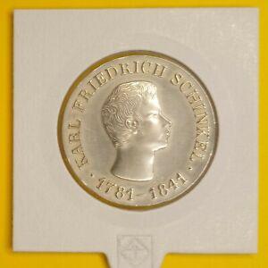 DDR 10 Mark (MDN) 1966 Karl Friedrich Schinkel Jaeger-Nr. 1517 Silber