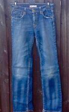 LEVIS 627 Bleu Jean Jeans stretch coupe droite femme W28 L32. Languette Rouge