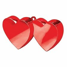 Red Double Heart Foil Balloon Weight 170g Engagement Wedding Party Accessories