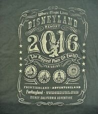 2016 DISNEYLAND RESORT Where Magic Lives DARK GRAY T-Shirt -  XLarge XL -  NWT