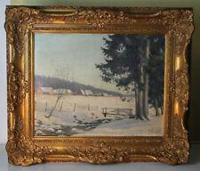 W. HILFERT stimmungsvolles Ölgemälde Winterlandschaft gelistet um 1900