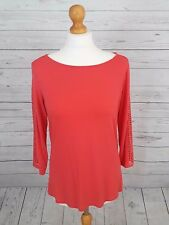 Women's M&S Collection Coral Blouse Top with Cut Out Detail on Sleeves Size 14