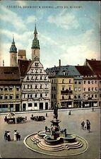 Freiberg Sachsen Mittelsachsen AK 1914 Obermarkt Denkmal Otto des Reichen Statue