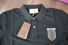 NEW GUCCI Made in ITALY-POLO t-shirt SUPER FASHION BLACK TEE size-S