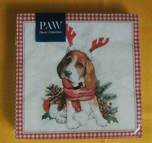 20 Servietten HUNDE 1 Packung OVP Motivservietten Weihnachten dog Beagle napkins