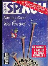 Spirou 3355 du 31.7.2002 Spécial Noël, avec les 8 cartes de voeux cartonnées