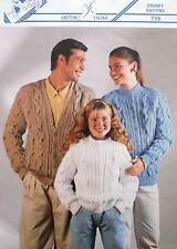 Teddy 719-grueso-familia Crew de alta y chaquetas de cuello en V
