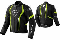 GIACCA JACKET MOTO REV'IT REVIT SHIELD H2O IMPERMEABILE WP NERO GIALLO NEON TG M