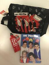 1D ONE DIRECTION Messenger BAG WATER BOTTLE Notebook OFFICIAL Fan bundle Gift